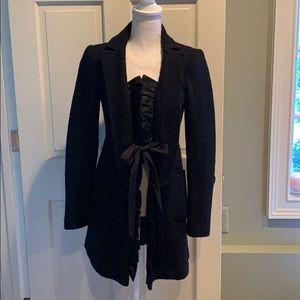 Nanette Lepore black wool coat - size 2